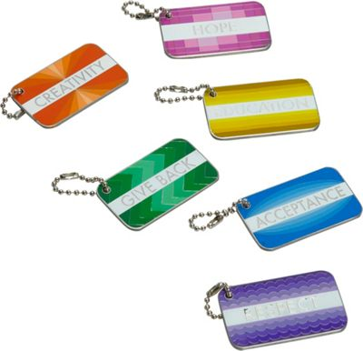 Sydney Paige Buy One/Give One Statement Tag Set Metallic - Sydney Paige Luggage Accessories
