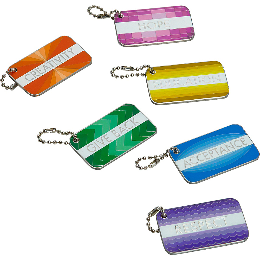 Sydney Paige Buy One Give One Statement Tag Set Metallic Sydney Paige Luggage Accessories