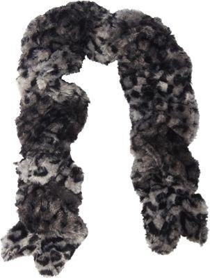Jessica McClintock Scarves Leopard Print Faux Fur Neck Warmer Black/Leopard - Jessica McClintock Scarves Hats/Gloves/Scarves