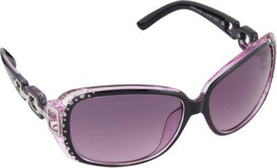 SouthPole Eyewear Oval Glam Sunglasses Black/Pink - SouthPole Eyewear Sunglasses