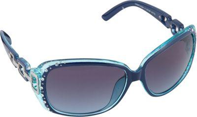 SouthPole Eyewear Oval Glam Sunglasses Navy/Turquoise - SouthPole Eyewear Sunglasses 10393230