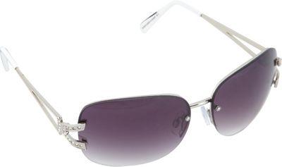 SouthPole Eyewear Metal Oval Sunglasses Silver/Coral - SouthPole Eyewear Sunglasses
