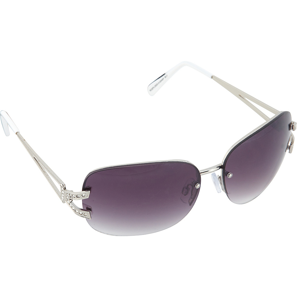 SouthPole Eyewear Metal Oval Sunglasses Silver Coral SouthPole Eyewear Sunglasses