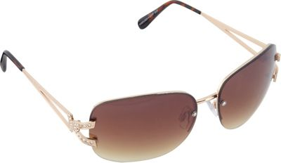 SouthPole Eyewear Metal Oval Sunglasses Gold - SouthPole Eyewear Sunglasses
