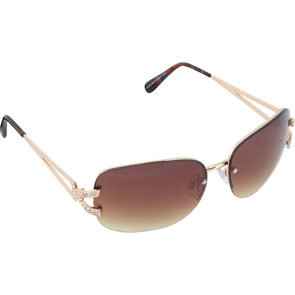 SouthPole Eyewear Metal Oval Sunglasses Gold SouthPole Eyewear Sunglasses