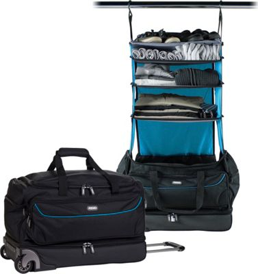 Rise Gear Roller Travel Bag with Collapsible Shelves Blue - Rise Gear Rolling Duffels