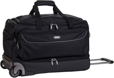 Rise Gear Roller Travel Bag with Collapsible Shelves Grey - Rise Gear Rolling Duffels