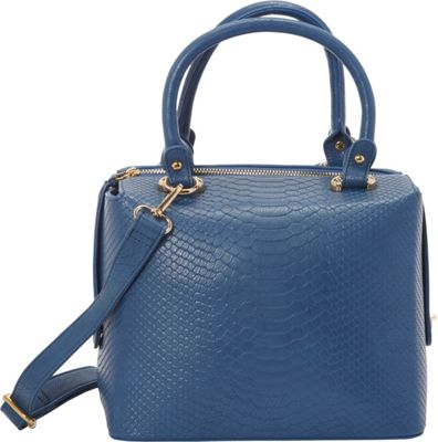 SW Global Leola Satchel Bag Blue - SW Global Manmade Handbags