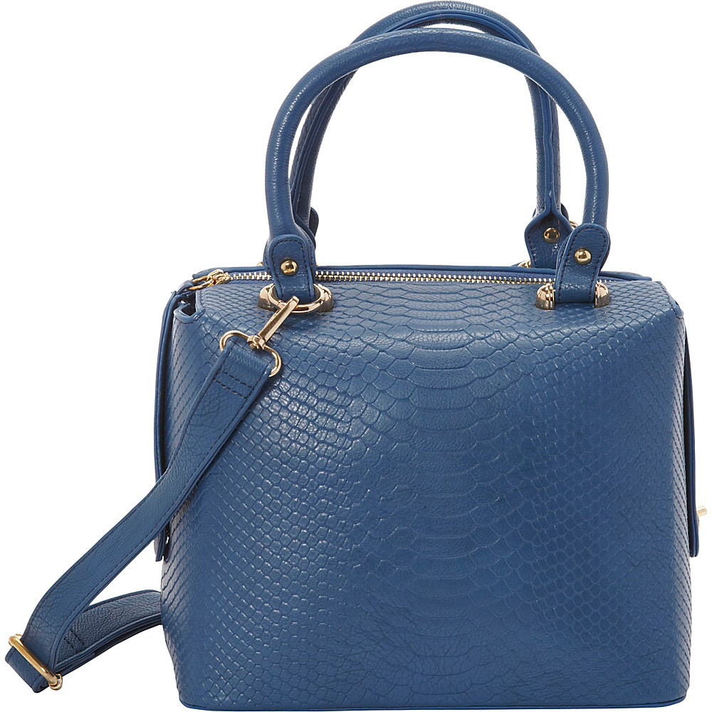 SW Global Leola Satchel Bag Blue - SW Global Manmade Handbags - Handbags, Manmade Handbags