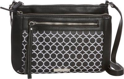 Nine West Handbags Fearless Remix Crossbody Black/White - Nine West Handbags Fabric Handbags