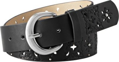 Relic Paisley Embossed Belt Black - M - Relic Belts
