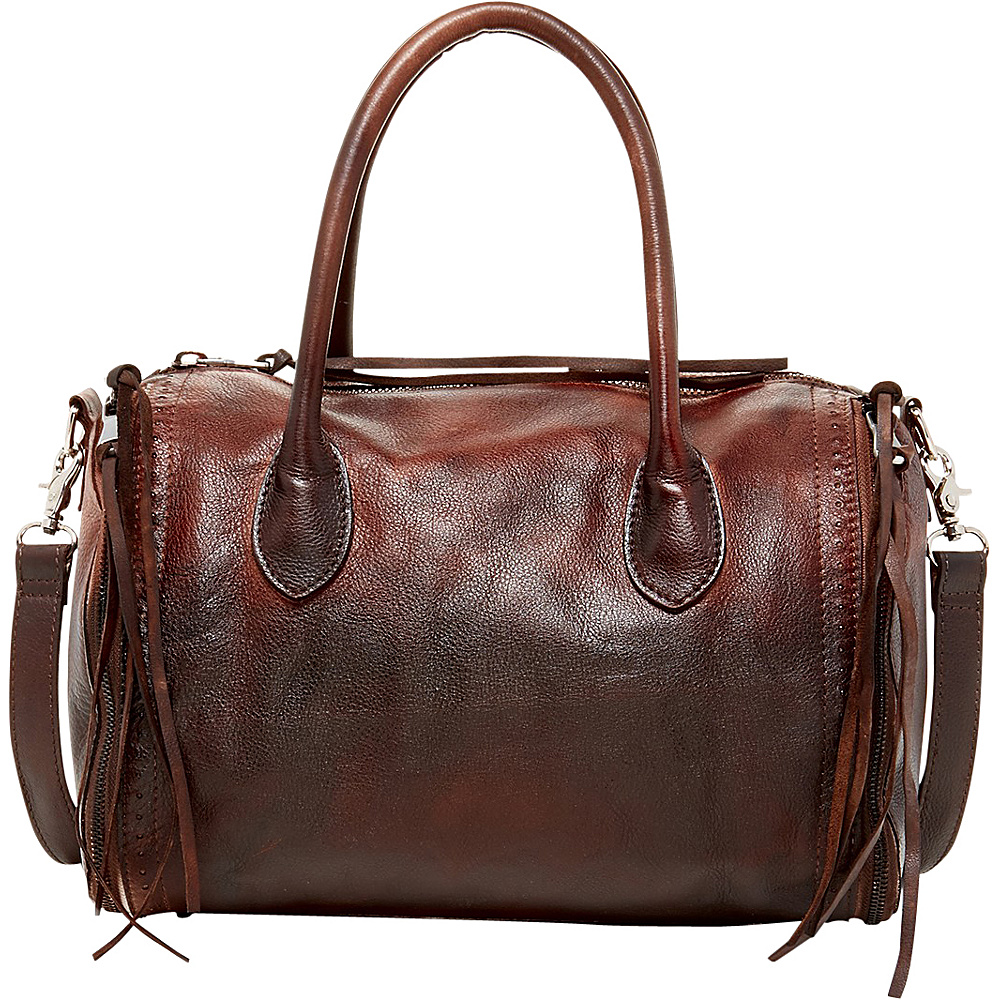 Old Trend Sunny Hill Satchel Chestnut Coffee Ombre Old Trend Leather Handbags