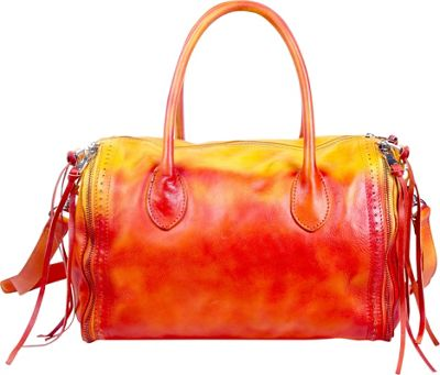 Old Trend Sunny Hill Satchel Yellow-Red Ombre - Old Trend Leather Handbags