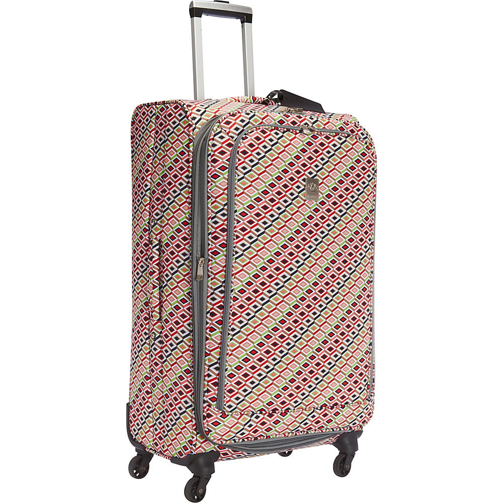 Jenni Chan Tiles 28 Upright Spinner Multi Jenni Chan Softside Checked
