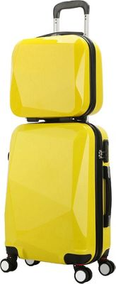 World Traveler Diamond 2-Piece Carry-on Spinner Luggage Set Yellow - World Traveler Luggage Sets