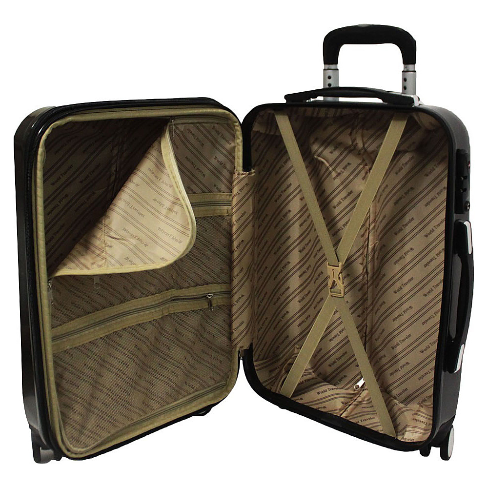 World Traveler Diamond 2-Piece Carry-on Spinner Luggage Luggage ...