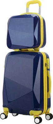 World Traveler Diamond 2-Piece Carry-on Spinner Luggage Set Blue - World Traveler Luggage Sets
