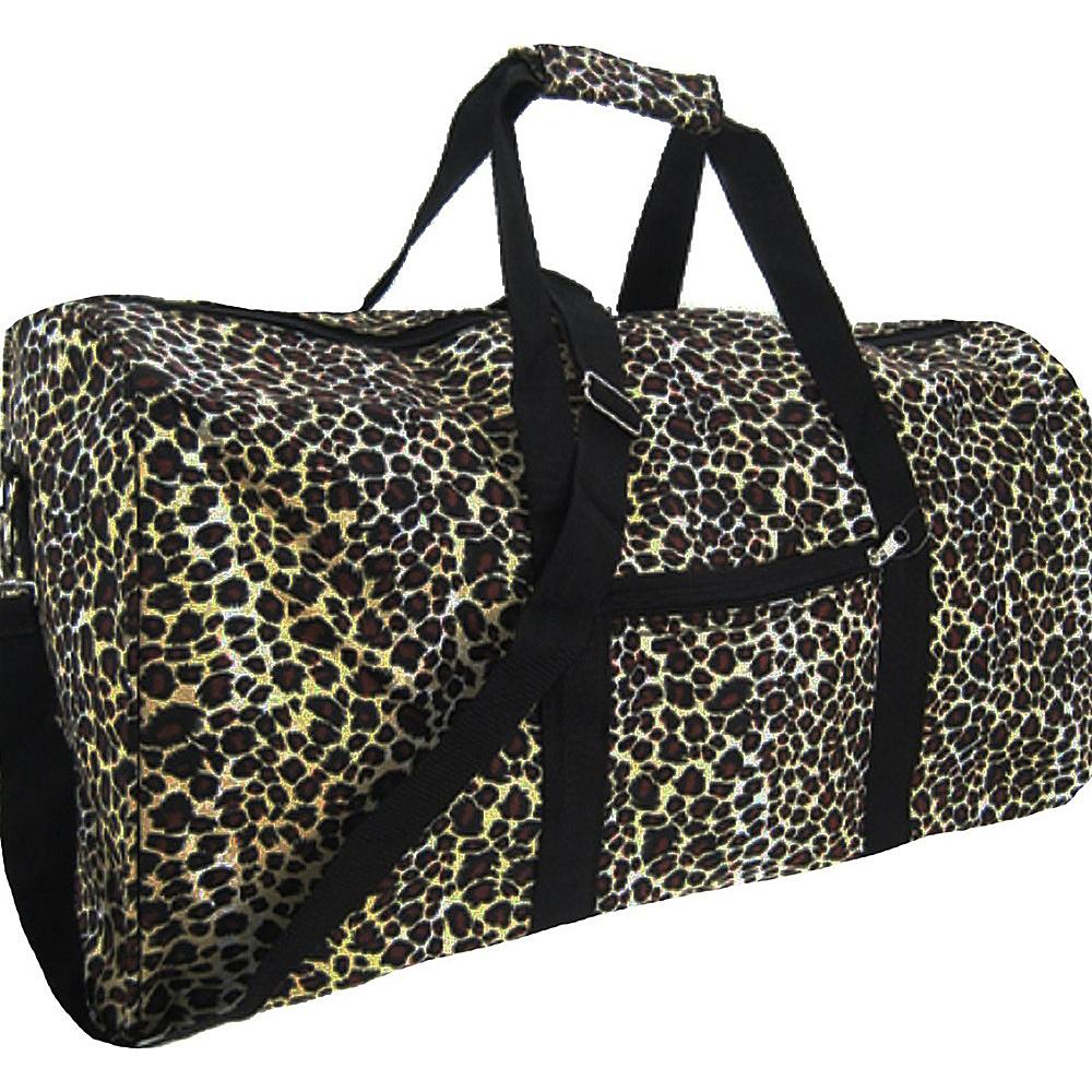 World Traveler Leopard 22  Lightweight Duffle Bag Leopard - World Traveler Rolling Duffels - Luggage, Rolling Duffels