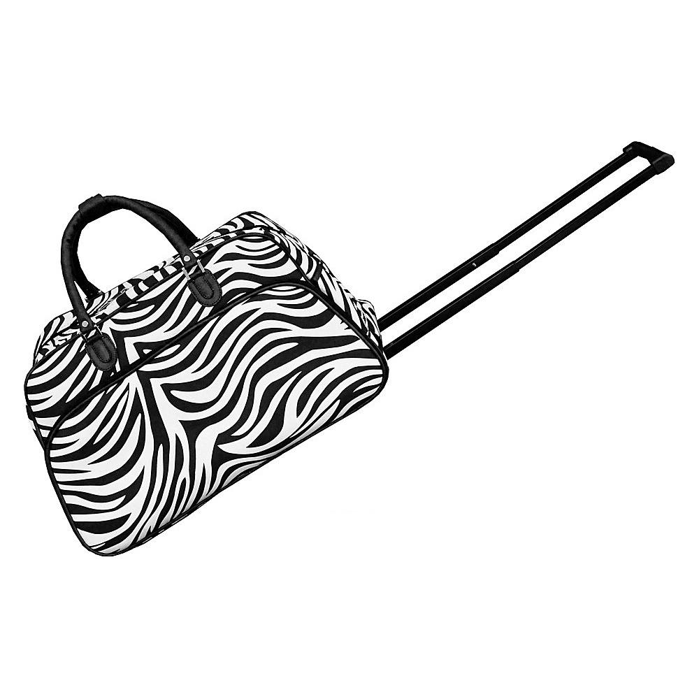 World Traveler Zebra 21 Rolling Duffel Bag Black Trim Zebra - World Traveler Rolling Duffels - Luggage, Rolling Duffels