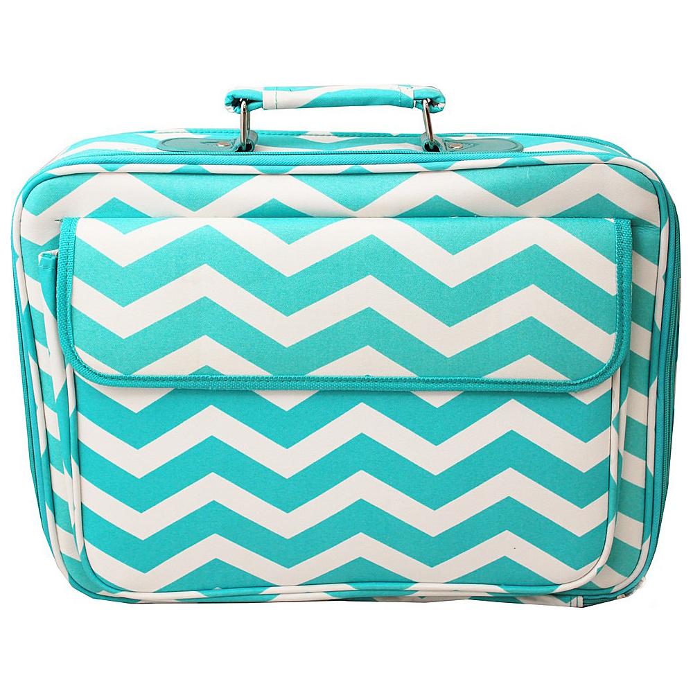 World Traveler Chevron 17 Laptop Case Light Blue White Chevron - World Traveler Non-Wheeled Business Cases - Work Bags & Briefcases, Non-Wheeled Business Cases