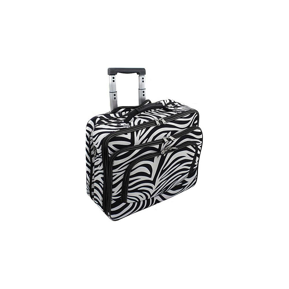 World Traveler Zebra Rolling 17 Laptop Case Black Trim Zebra - World Traveler Non-Wheeled Business Cases - Work Bags & Briefcases, Non-Wheeled Business Cases