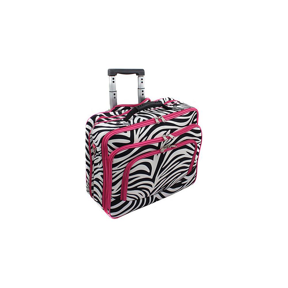 World Traveler Zebra Rolling 17 Laptop Case Pink Zebra - World Traveler Non-Wheeled Business Cases - Work Bags & Briefcases, Non-Wheeled Business Cases