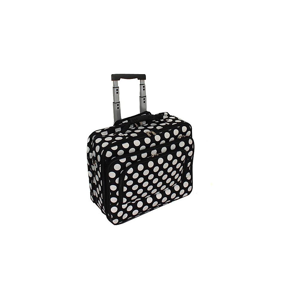 World Traveler Dots ll Rolling 17 Laptop Case Black White Dot II - World Traveler Non-Wheeled Business Cases - Work Bags & Briefcases, Non-Wheeled Business Cases