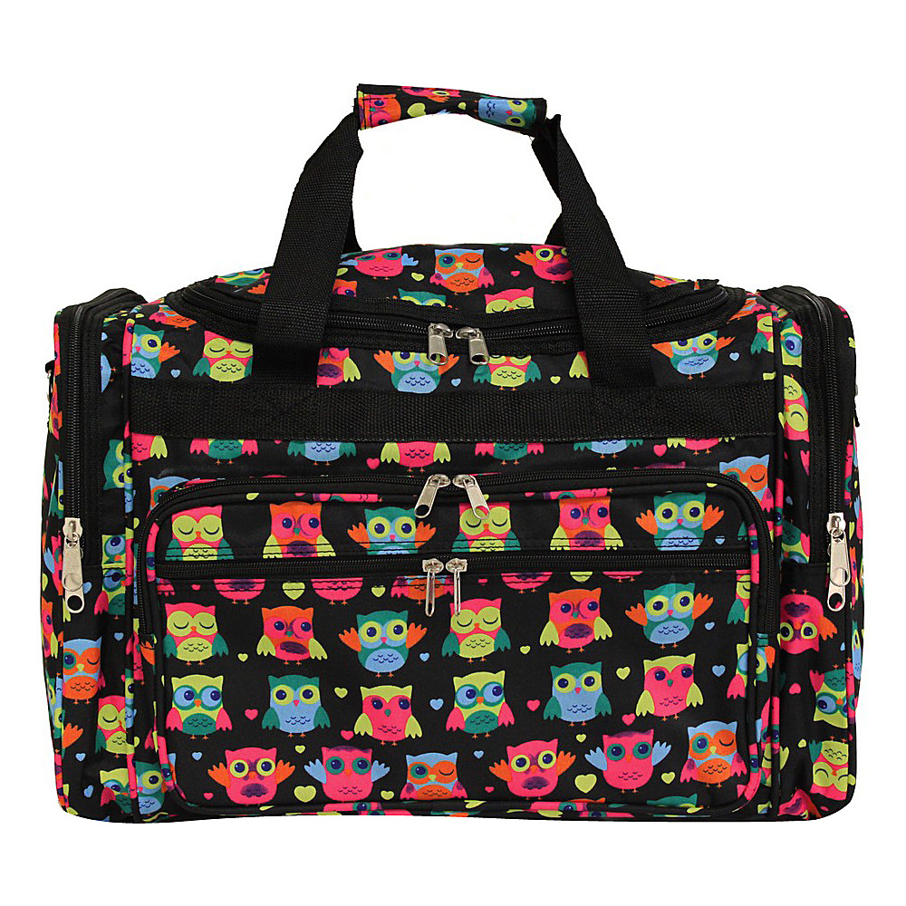 World Traveler Owl 19 Shoulder Duffle Bag Owl Black World Traveler Rolling Duffels