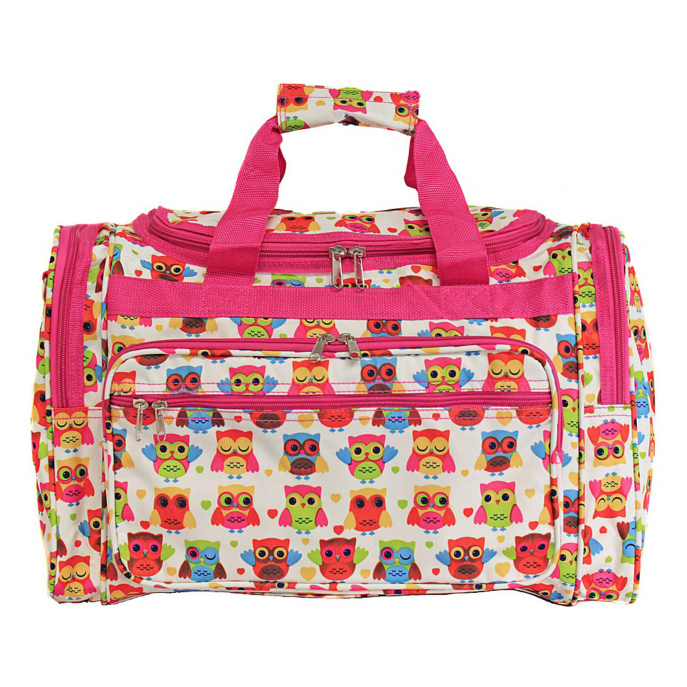 World Traveler Owl 19 Shoulder Duffle Bag Owl Pink World Traveler Rolling Duffels