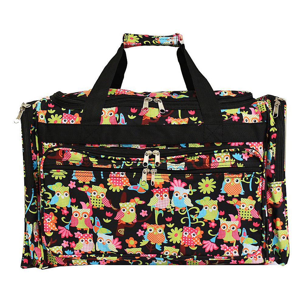 World Traveler Owl 19 Shoulder Duffle Bag Multi Owl - World Traveler Rolling Duffels - Luggage, Rolling Duffels