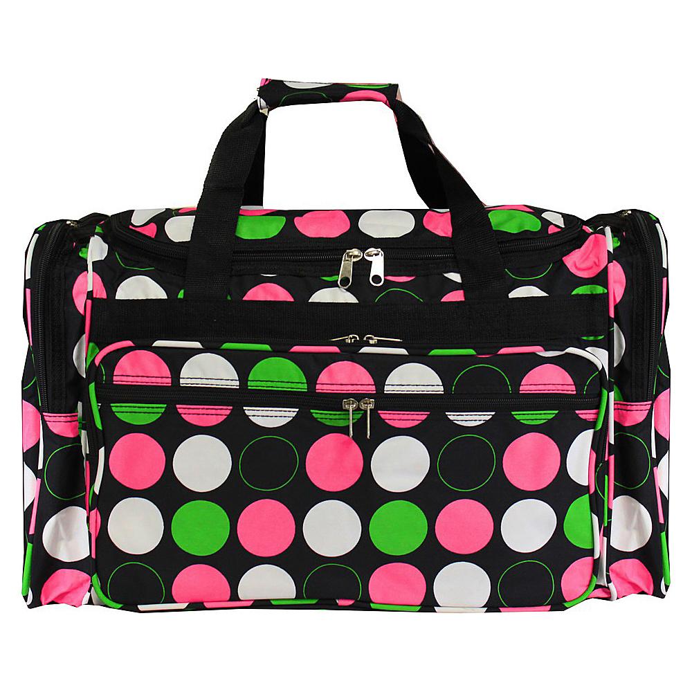 World Traveler New Multi Dot 22 Travel Duffle Bag New Multi Dot - World Traveler Rolling Duffels - Luggage, Rolling Duffels