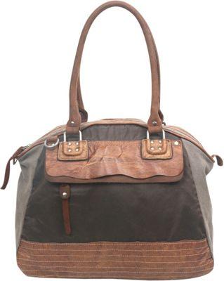 TSD Tapa Satchel Grey - TSD Fabric Handbags