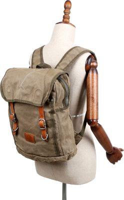 TSD Forest Backpack Olive - TSD Fabric Handbags