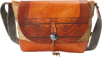 TSD Boho Echo Messenger Khaki - TSD Leather Handbags