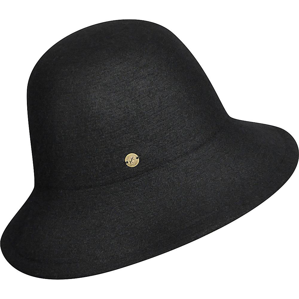 Karen Kane Hats Boiled Wool Floppy Hat Black Karen Kane Hats Hats Gloves Scarves