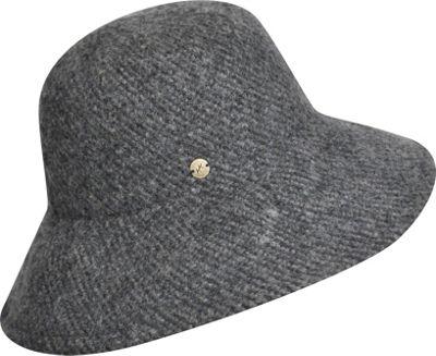 Karen Kane Hats Boiled Wool Floppy Hat One Size - Charcoal Heather - Karen Kane Hats Hats/Gloves/Scarves