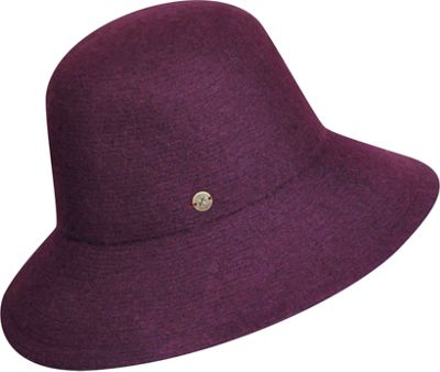 Karen Kane Hats Boiled Wool Floppy Hat One Size - Plum - Karen Kane Hats Hats/Gloves/Scarves