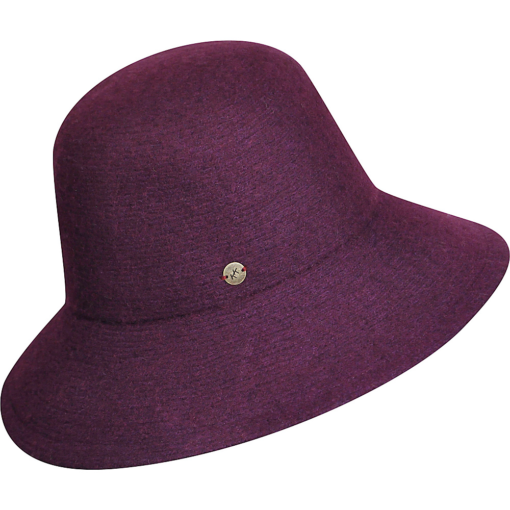 Karen Kane Hats Boiled Wool Floppy Hat Plum Karen Kane Hats Hats Gloves Scarves