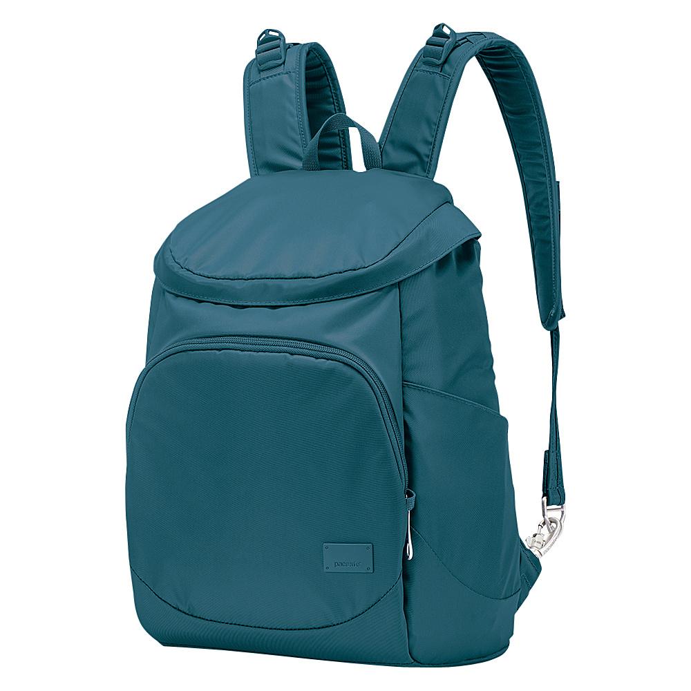 Pacsafe Citysafe CS350 Anti-Theft Backpack Teal - Pacsafe Fabric Handbags