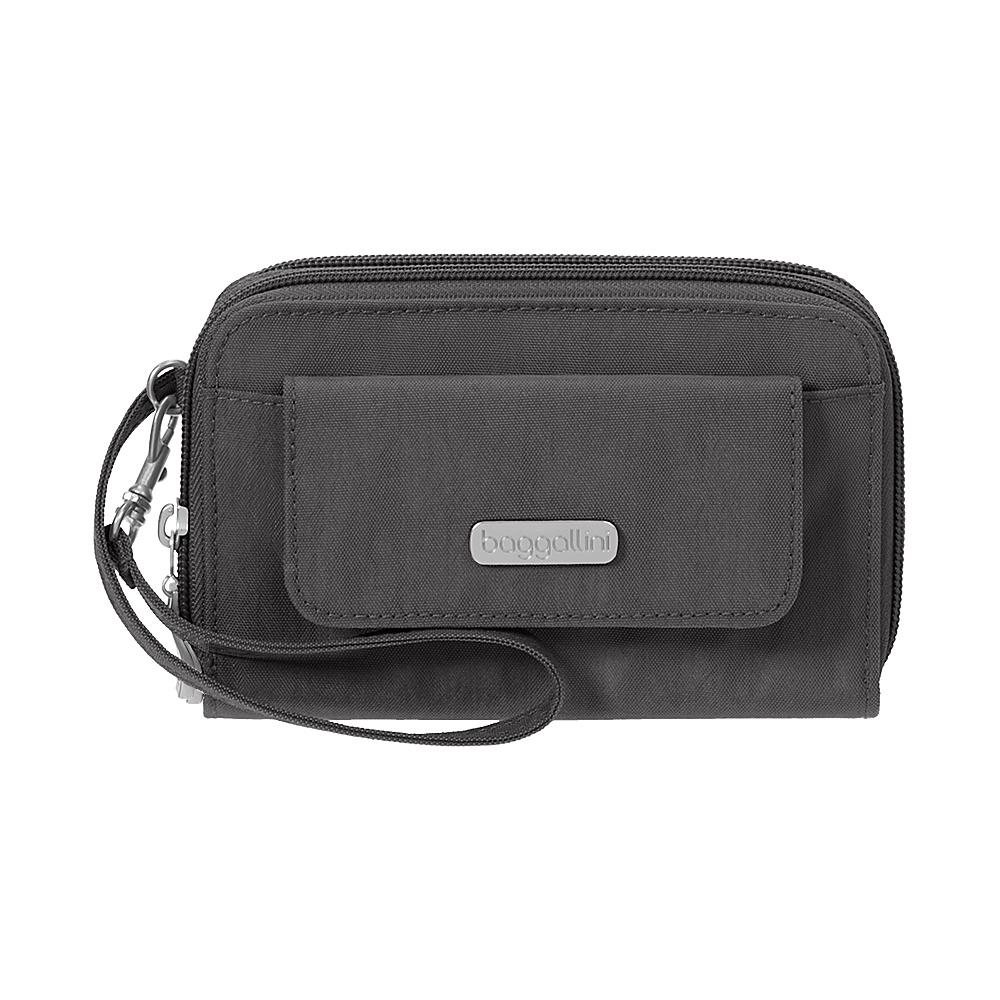 baggallini RFID Wallet Wristlet Charcoal - baggallini Womens Wallets - Women's SLG, Women's Wallets