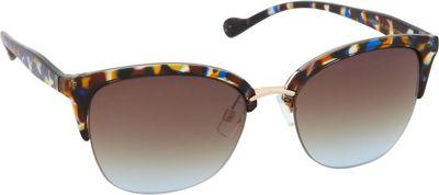 Jessica Simpson Sunwear Semi Rimless Vintage Sunglasses Blue Animal - Jessica Simpson Sunwear Sunglasses