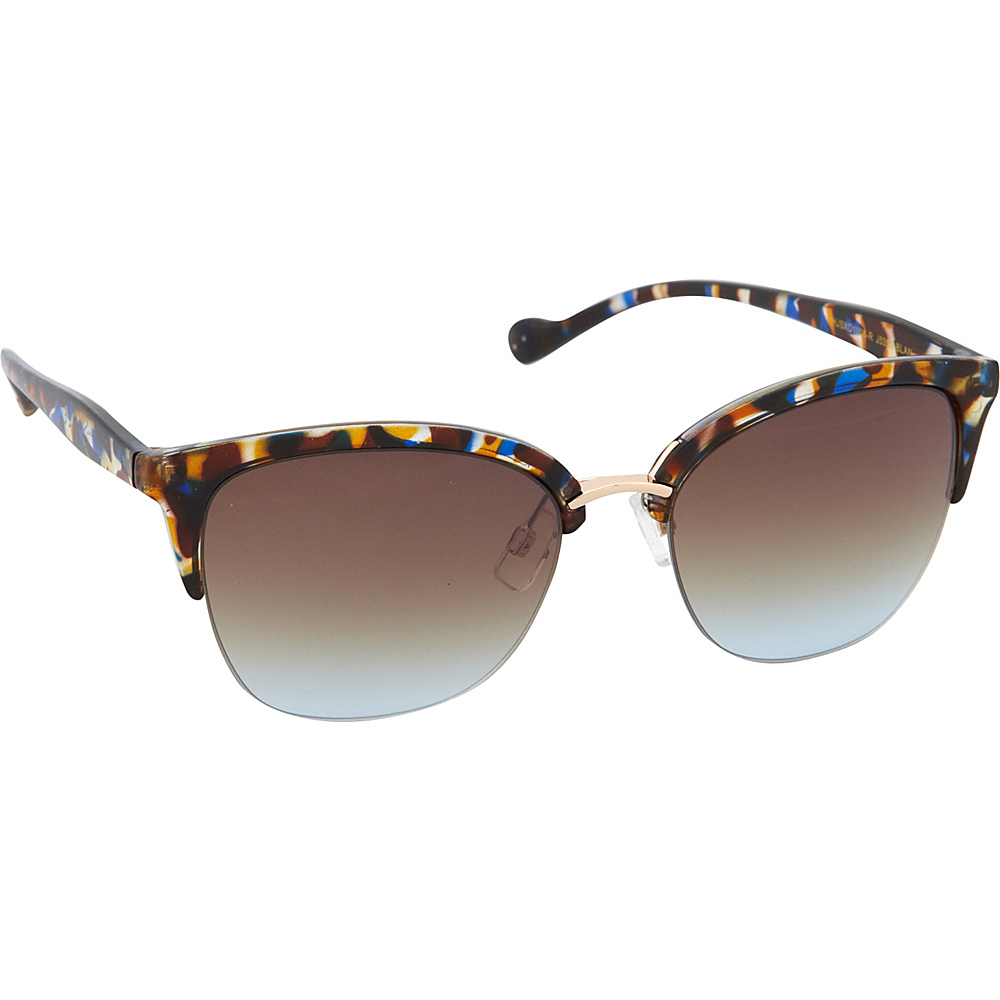 Jessica Simpson Sunwear Semi Rimless Vintage Sunglasses Blue Animal - Jessica Simpson Sunwear Sunglasses