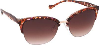 Jessica Simpson Sunwear Semi Rimless Vintage Sunglasses Berry Animal - Jessica Simpson Sunwear Sunglasses