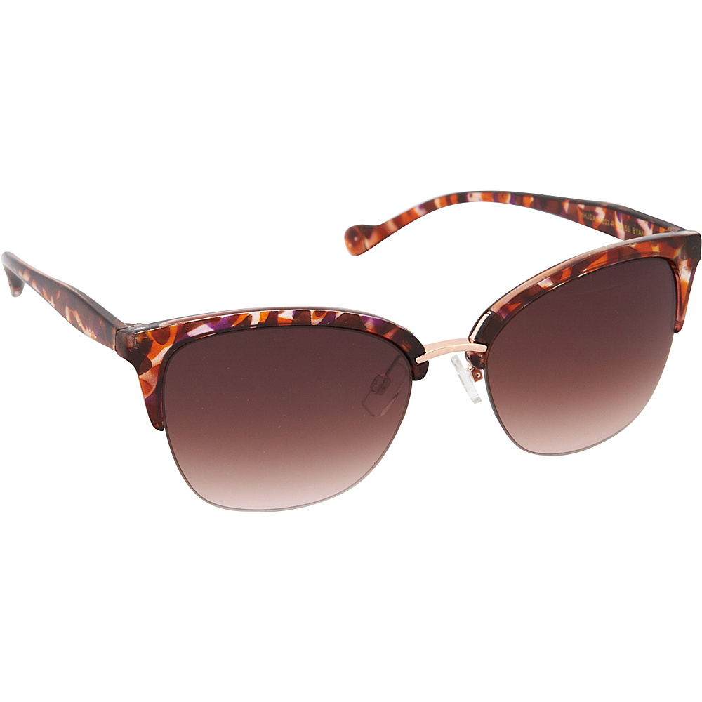 Jessica Simpson Sunwear Semi Rimless Vintage Sunglasses Berry Animal - Jessica Simpson Sunwear Sunglasses