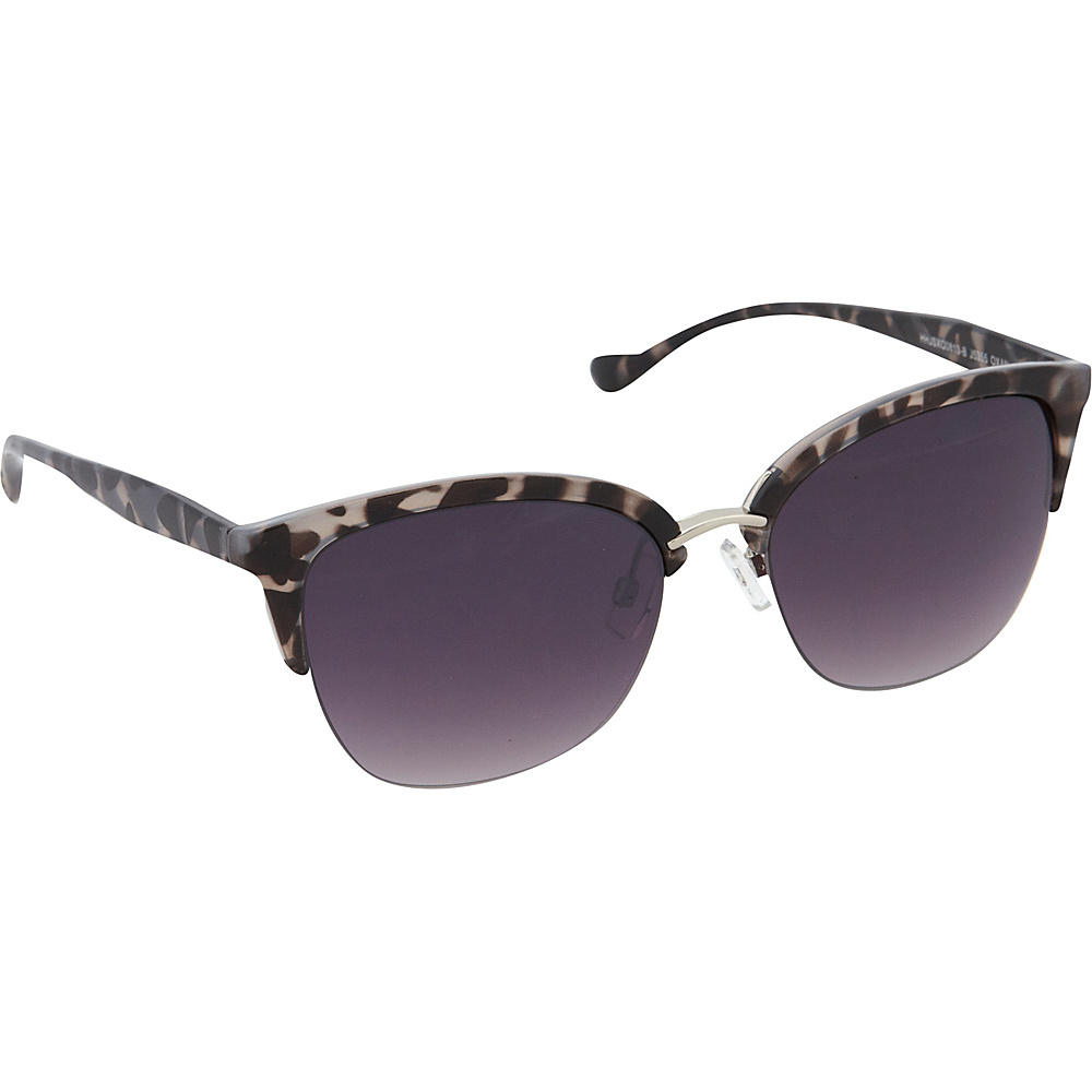 Jessica Simpson Sunwear Semi Rimless Vintage Sunglasses Black animal - Jessica Simpson Sunwear Sunglasses