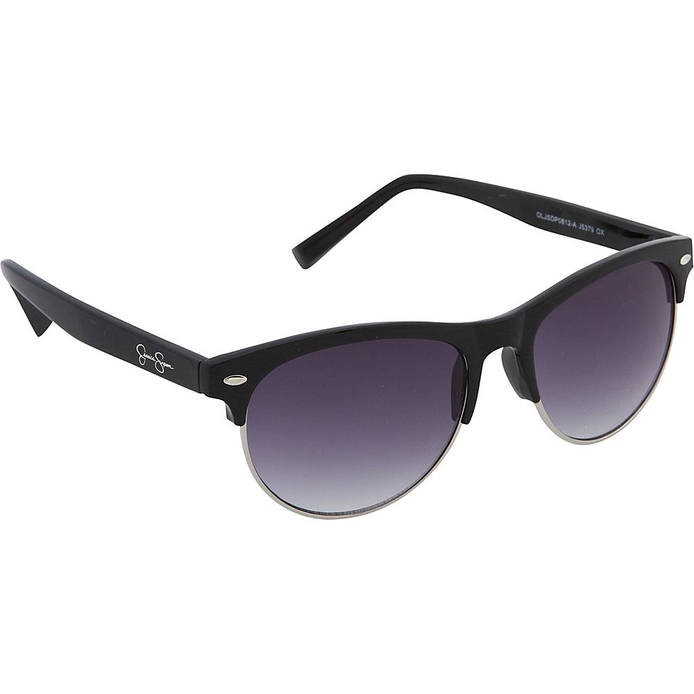 Jessica Simpson Sunwear Retro Sunglasses Black - Jessica Simpson Sunwear Sunglasses