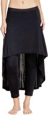 Magid Cotton Extra Long Skirt Leggings S/M - Black - Magid Women's Apparel