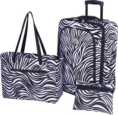 Verdi 3-Piece Travel Set Zebra - Verdi Luggage Sets