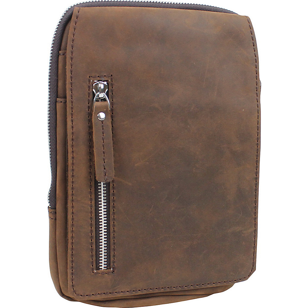 Vagabond Traveler Leather Chest Pack Travel Companion Vintage Brown - Vagabond Traveler Other Mens Bags - Work Bags & Briefcases, Other Men's Bags