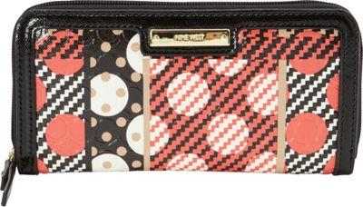 Nine West Handbags Table Treasures Zip Around Wallet Indian Coral Multi/Black - Nine West Handbags Ladies Clutch Wallets